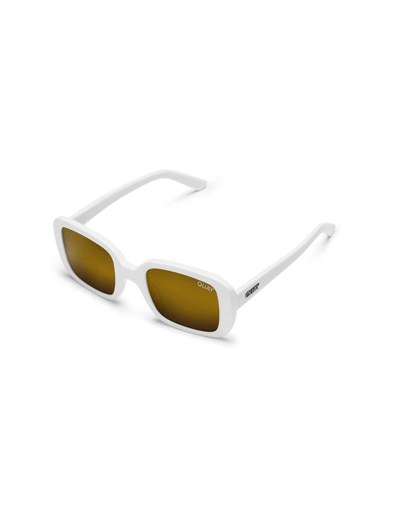 QUAY 20S SUNNIES - WHITE/GOLD