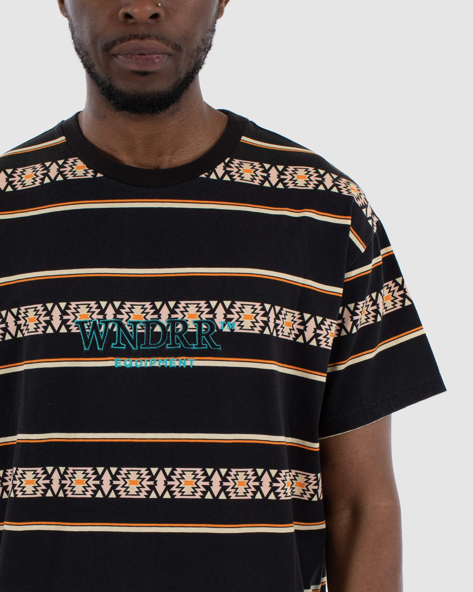 Wndrr Toci Stripe Custom Fit Tee - Multi