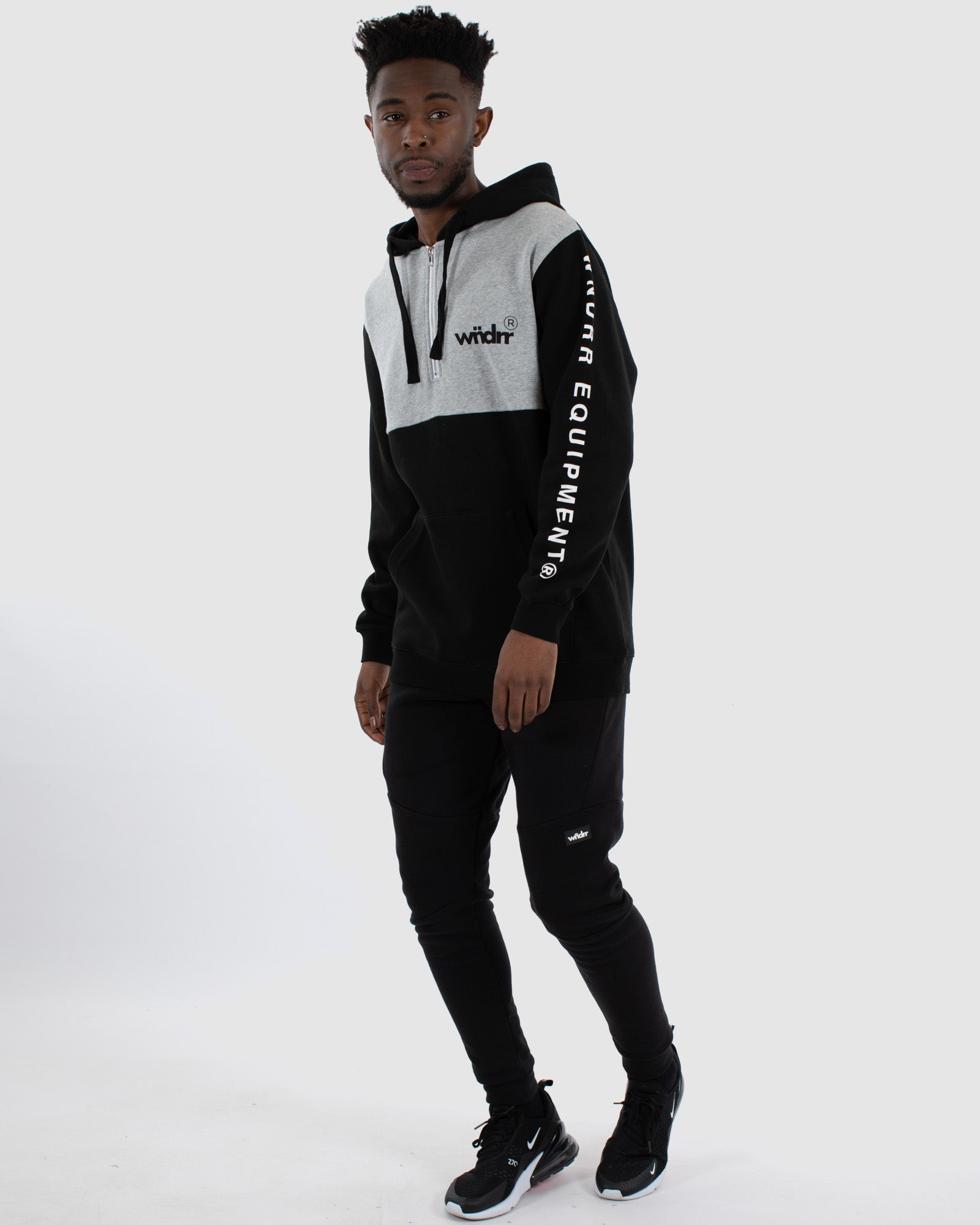 Wndrr Acclaimed Hood Sweat - Black/Grey