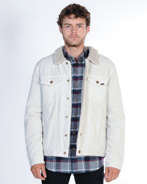 Industrie Bedford Cord Sherpa Jacket - Bone