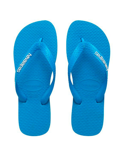 Havaianas Top Rubber Logo Thong - Blue Sky/White
