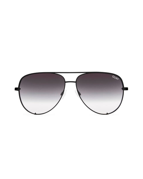 Quay High Key Sunnies - Black/Smoke Fade