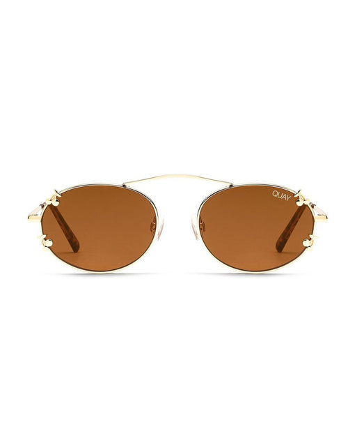 Quay Final Stand Sunnies - Gold Brown