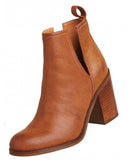 LIPSTIK NERRO CUT OUT BOOT - TAN