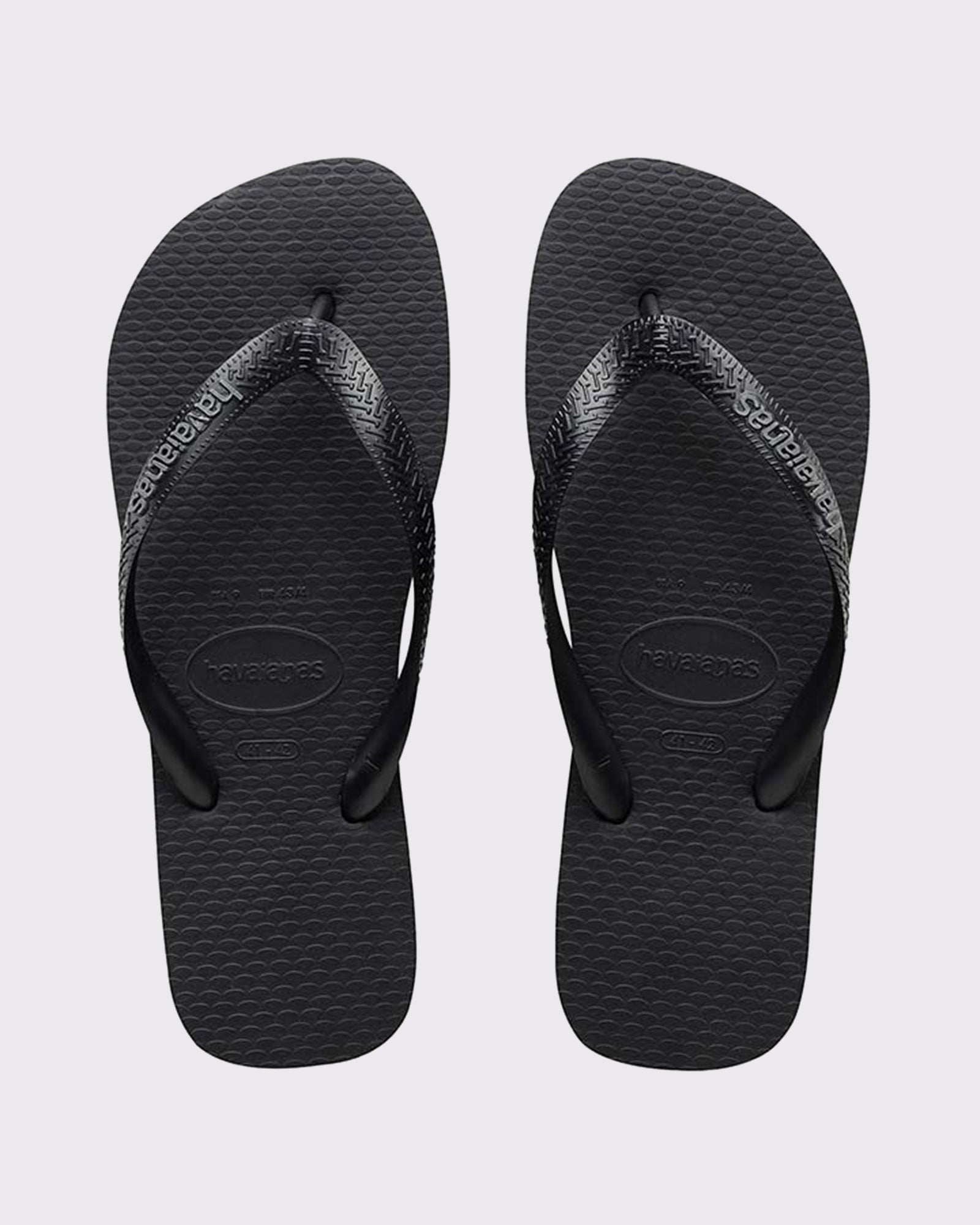 Havaianas Rubber Logo Thong - Black/Steel Grey