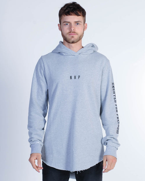 Nena & Pasadena Light Speed Hood Sweat - Grey Marle