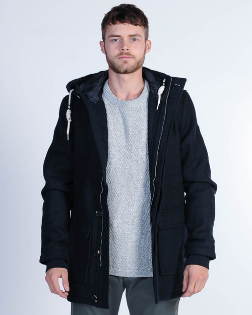 Academy Manhattan Duffle Jacket - Navy
