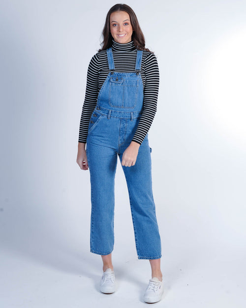 Afends Holly Overalls - Classic Blue