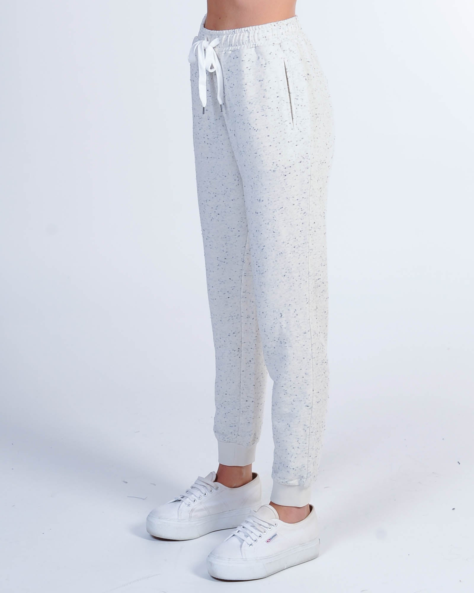 Nude Lucy Booker Textured Trackpant - Cream Speckle