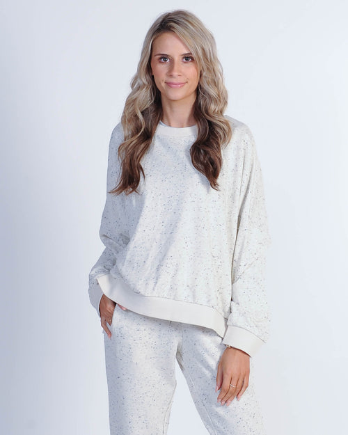 Nude Lucy Booker Oversized Sweat - Cream Speckle