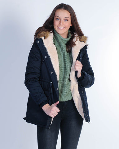 All About Eve Shearling Coat - Light Tan