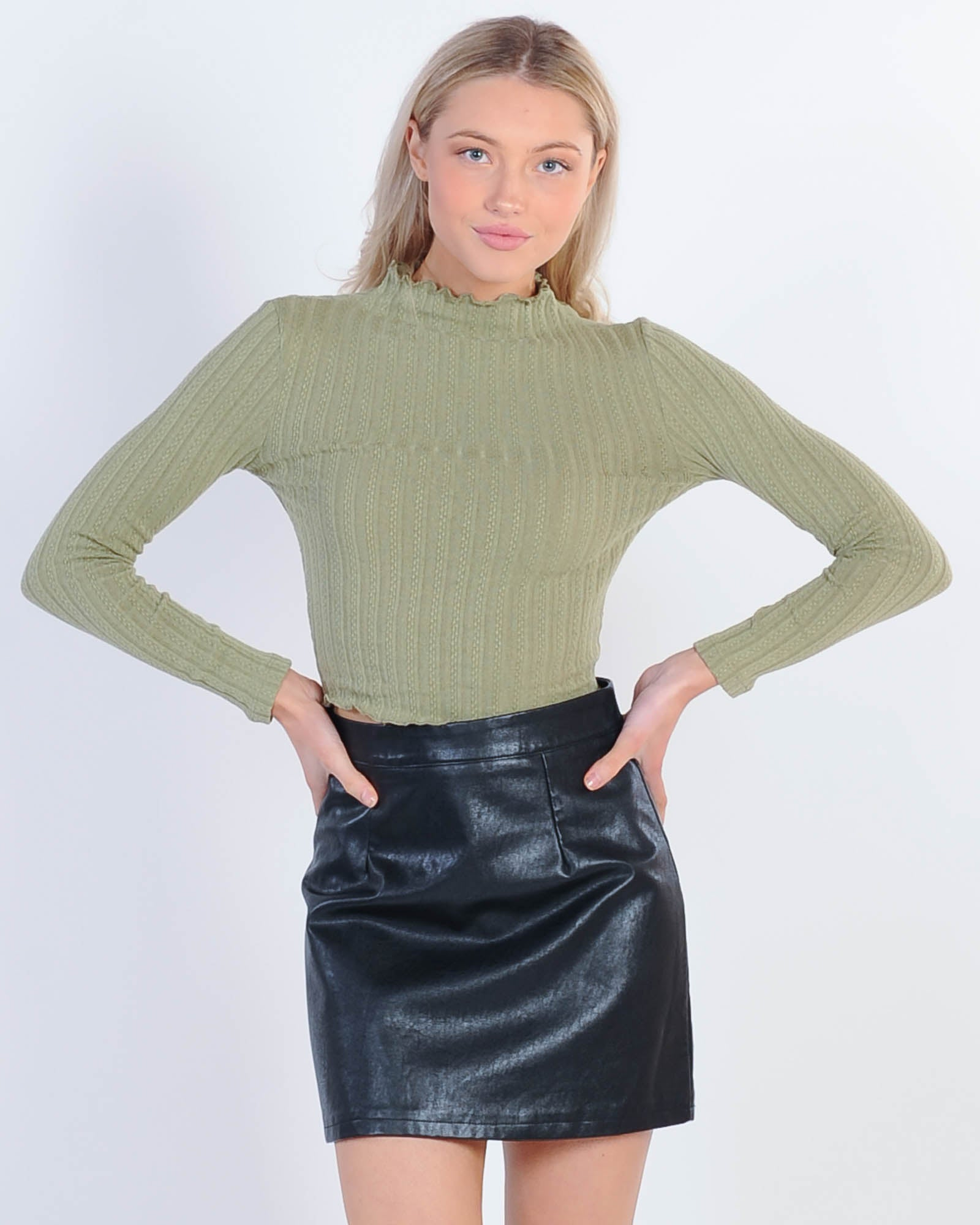 Private Party Top - Khaki