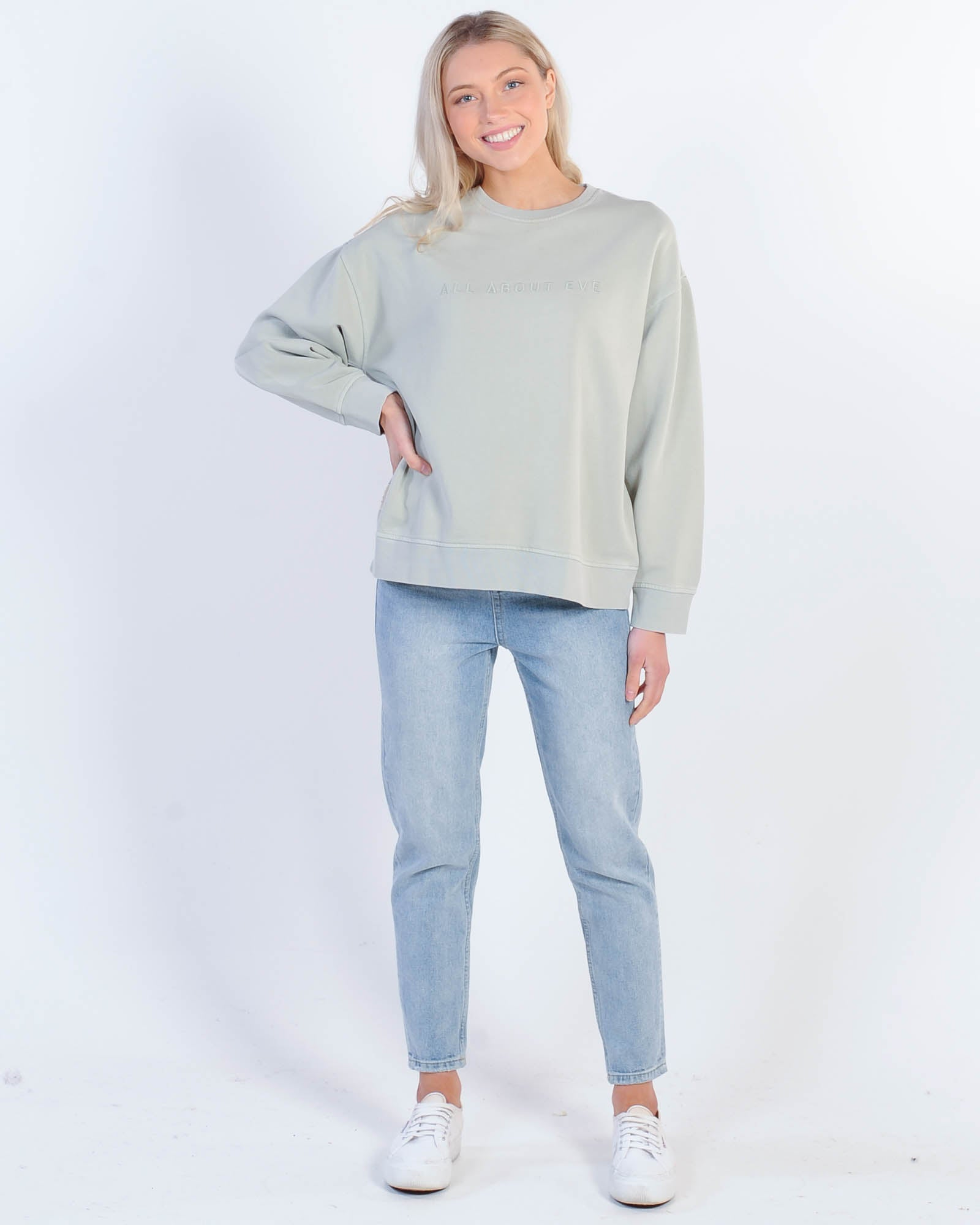 All About Eve Eve Washed Crew Sweat - Mint
