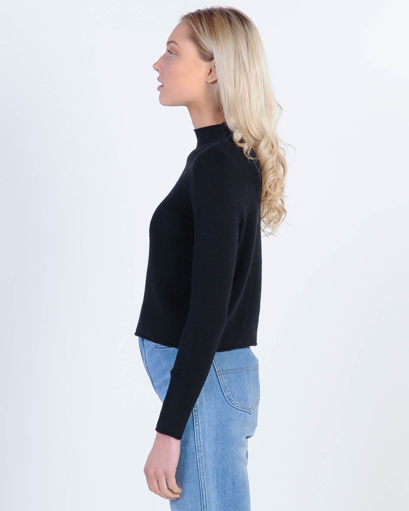 Love Triangle Knit Top - Black