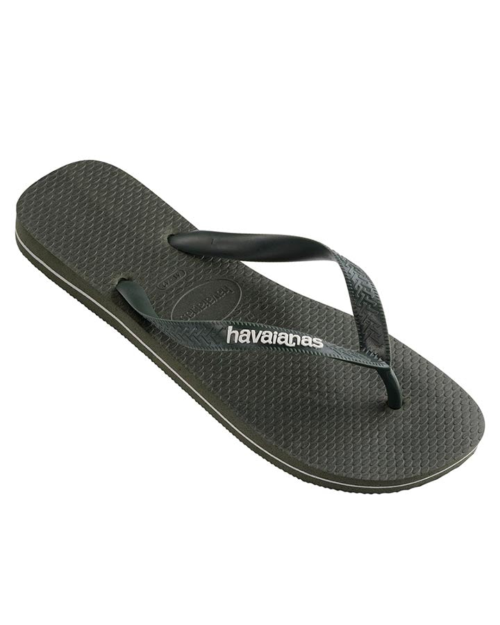 Havaianas Rubber Logo Thong - Olive Green