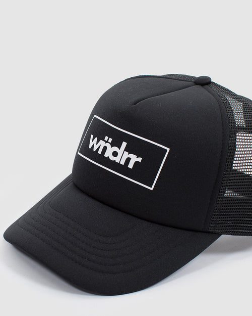 Wndrr Accent Trucker Cap - Black