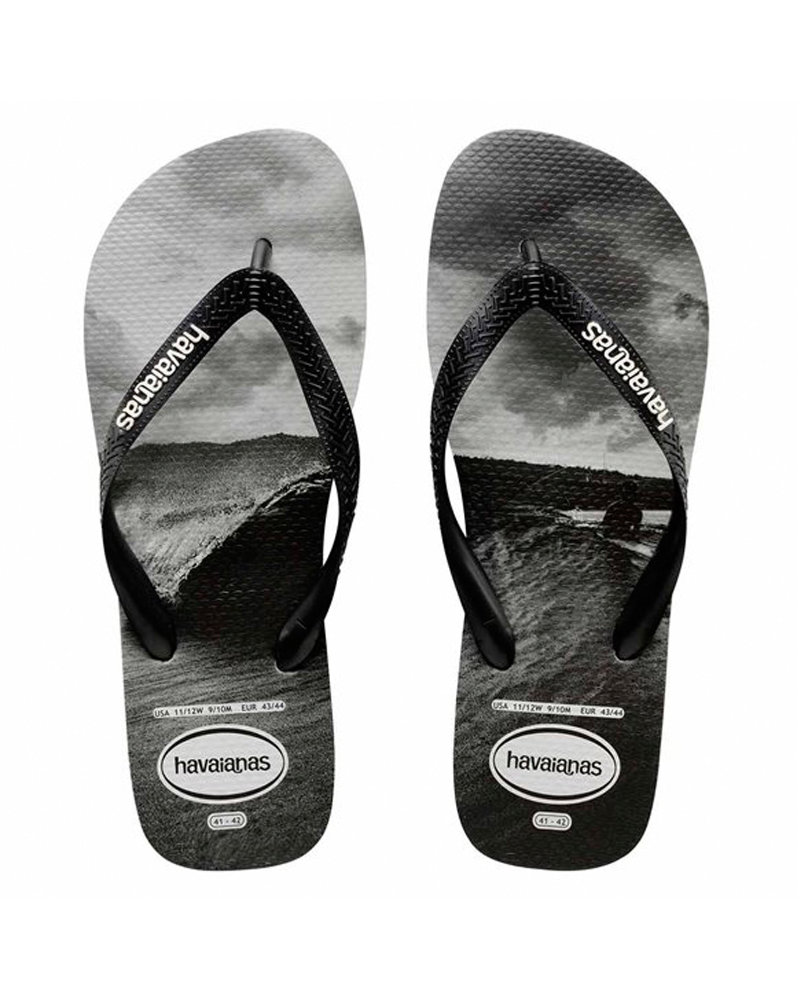 Havaianas Photoprint Mentawais Thong - Black/White