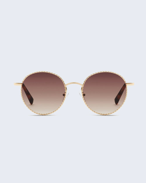 Quay I See You Sunnies - Gold/Brn