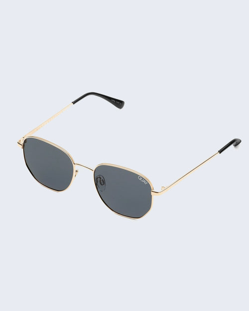 Quay Big Time Sunnies - Gld/Smk