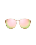 QUAY CHERRY BOMB SUNNIES - ROSE GOLD/PINK MIRR