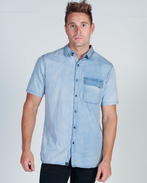 ST. GOLIATH RAZO S/S SHIRT - BLUE DENIM