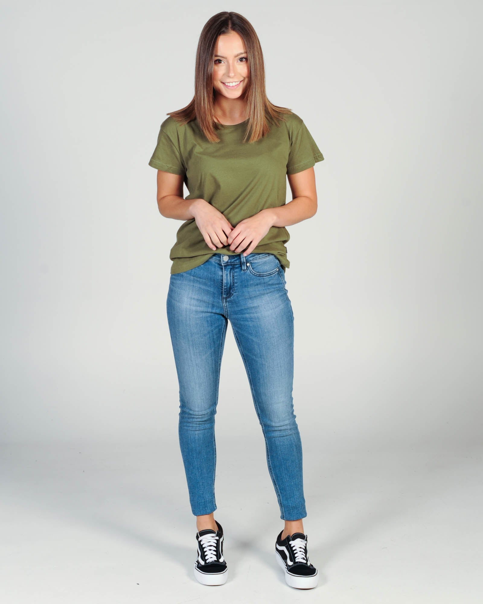 Silent Theory Polly Tee - Khaki Green