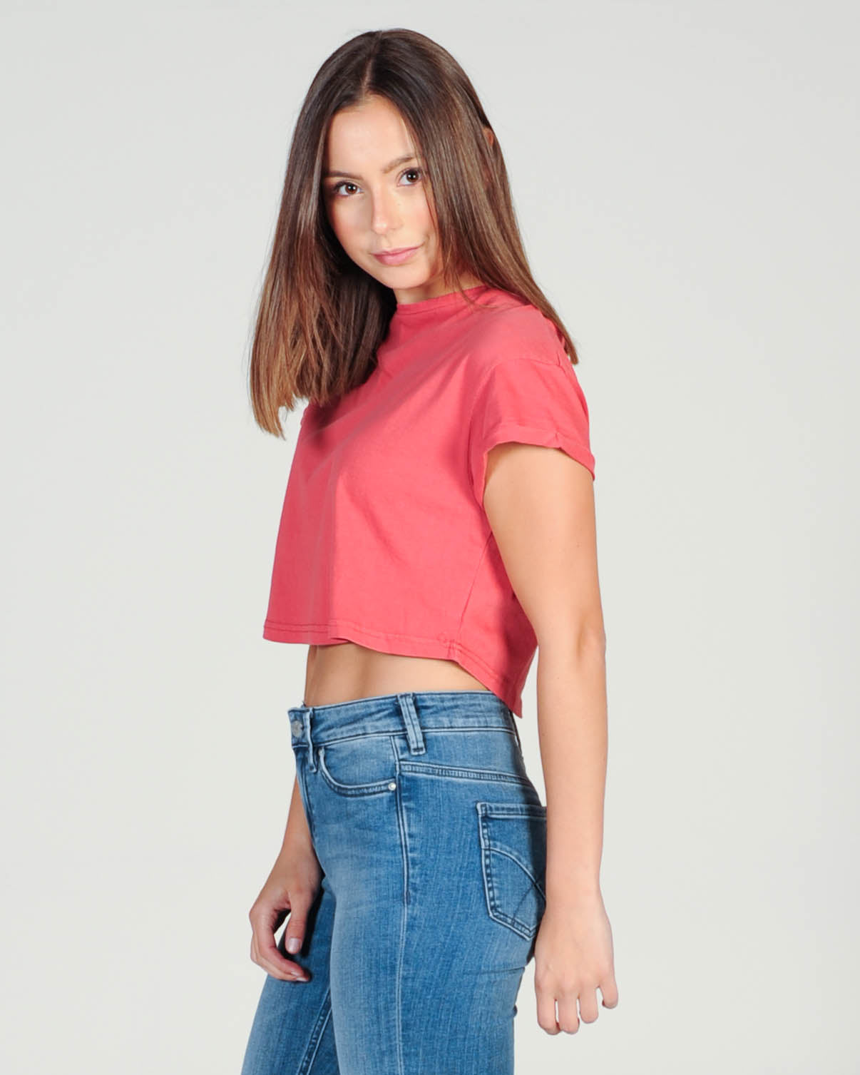 Silent Theory Bite The Bullet Crop Top - Red