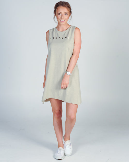 THRILLS CLASSIC MUSCLE DRESS - SAND