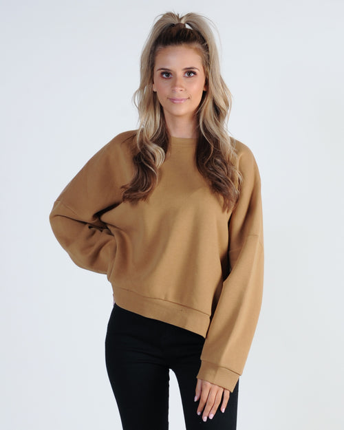 Nude Lucy Booker Oversized Sweat - Tan