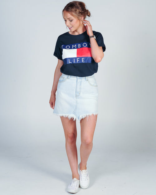 THE TOMMY TEE - NAVY