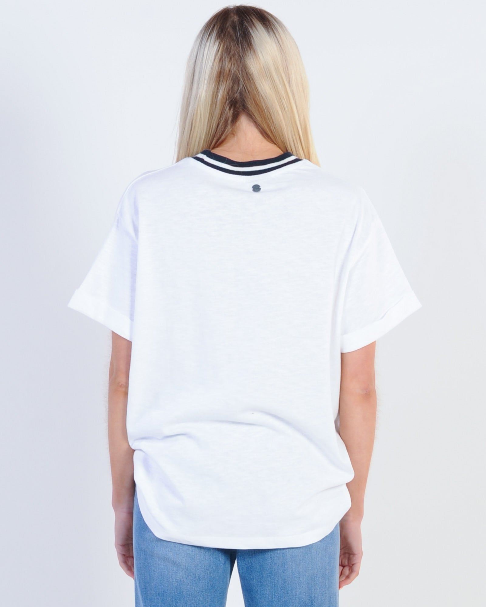 All About Eve Hollywood O/Size Tee - White