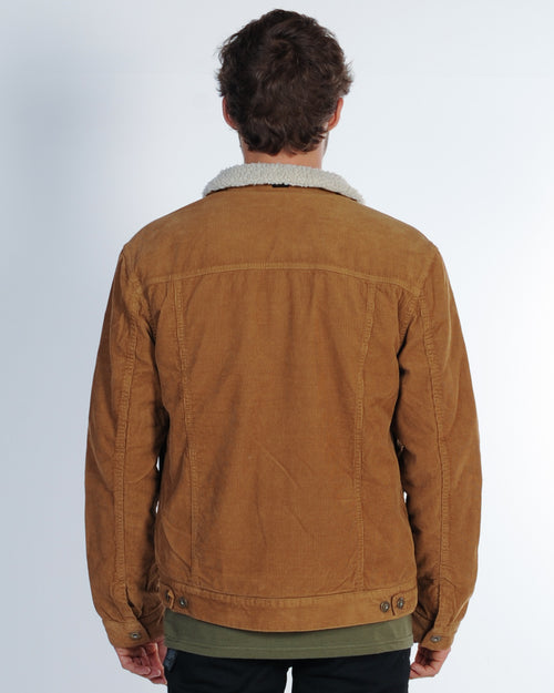 Industrie Bedford Cord Sherpa Jacket - Tobacco