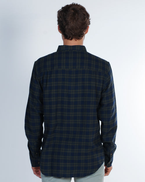 Academy Berkley L/S Check Shirt - Army