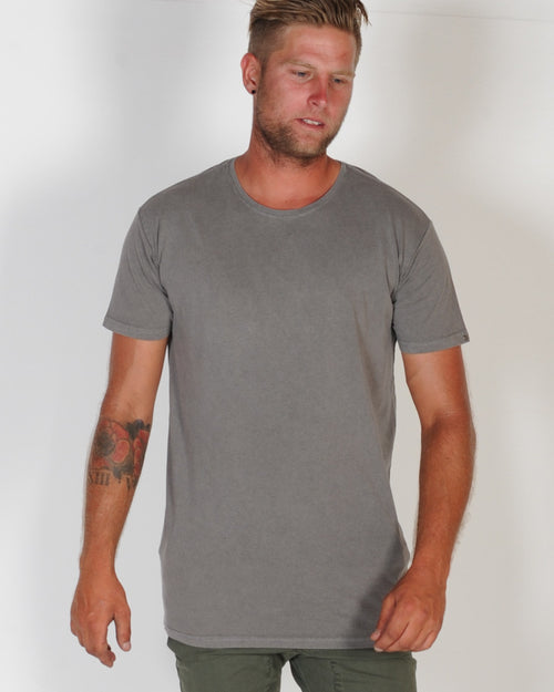 SILENT THEORY BASIC TEE - CHARCOAL