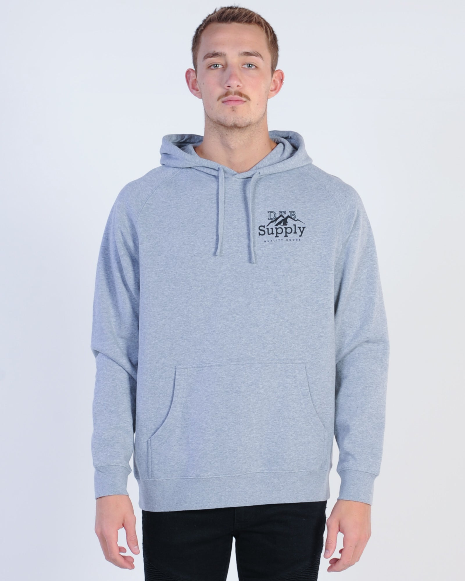Dtb Supply Pioneer Hood Sweat - Grey Marle