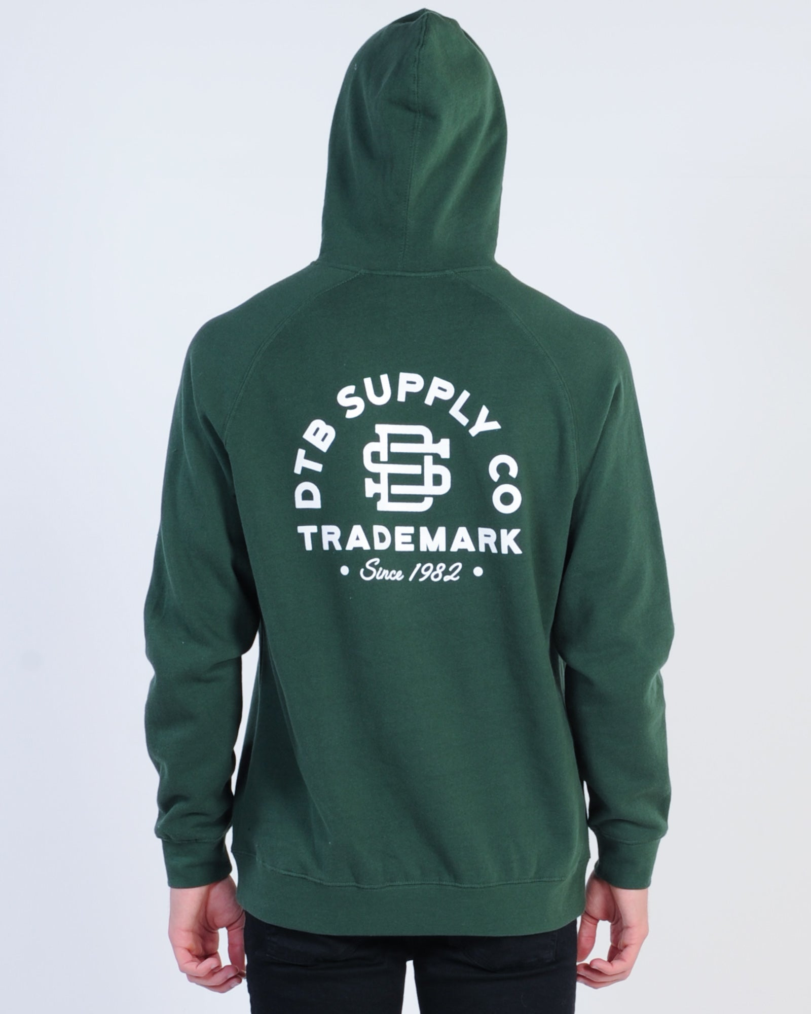 Dtb Supply Letterman Hood Sweat - Forest Green
