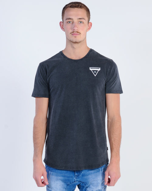 Silent Theory Cutter Tee - Washed Black