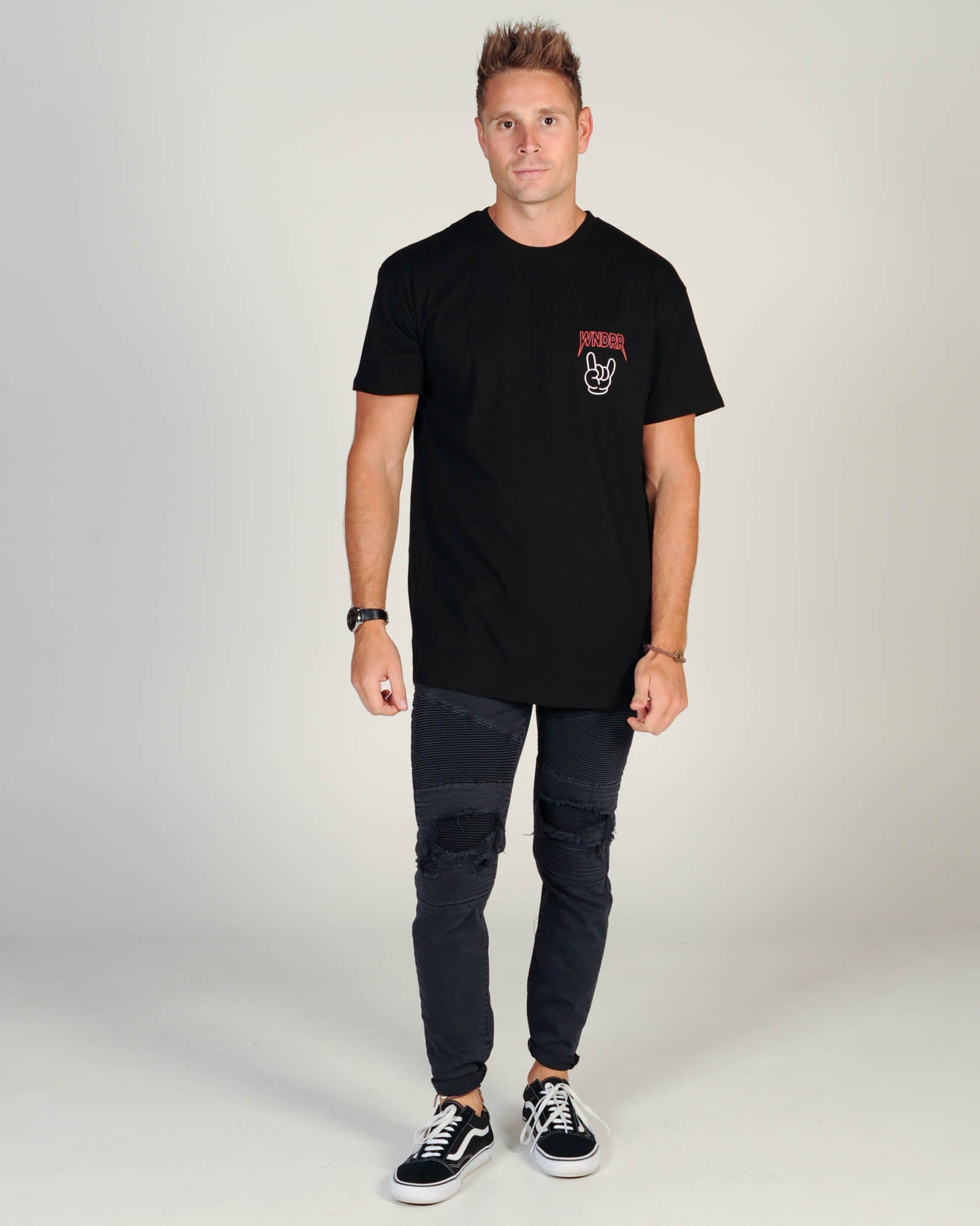Wndrr Rock On Custom Fit Tee - Black