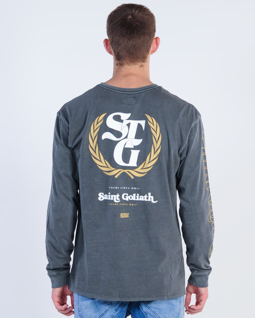 St. Goliath Ornament L/S Tee - Washed Black