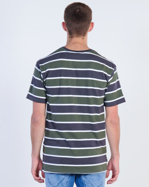 Silent Theory Horizon Stripe Tee - Grape