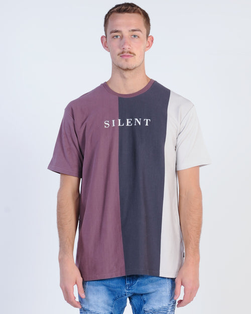 Silent Theory Mega Stripe Tee - Grape