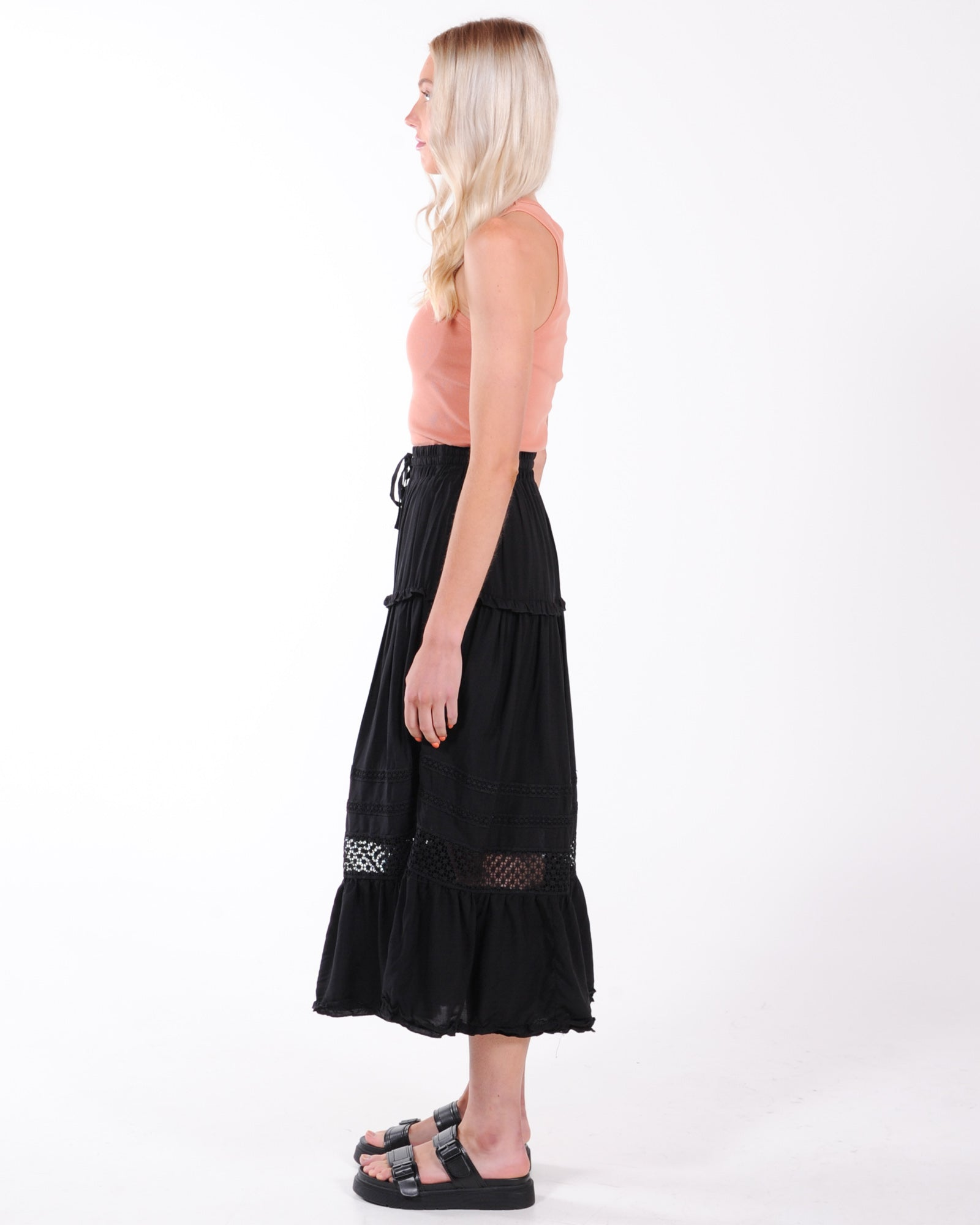 When In Rome Midi Skirt - Black