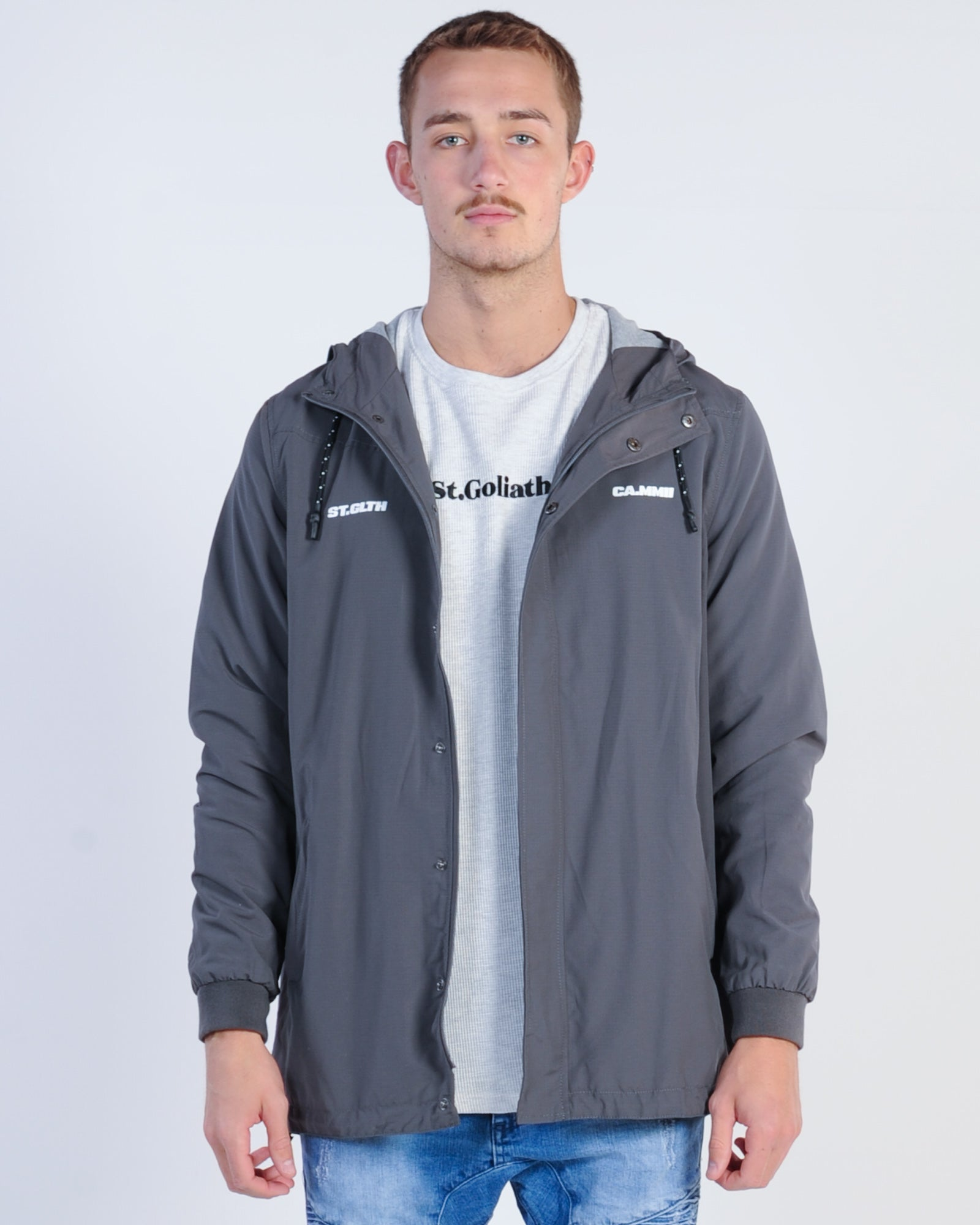 St. Goliath Covered 4 Hooded Jacket - Charcoal