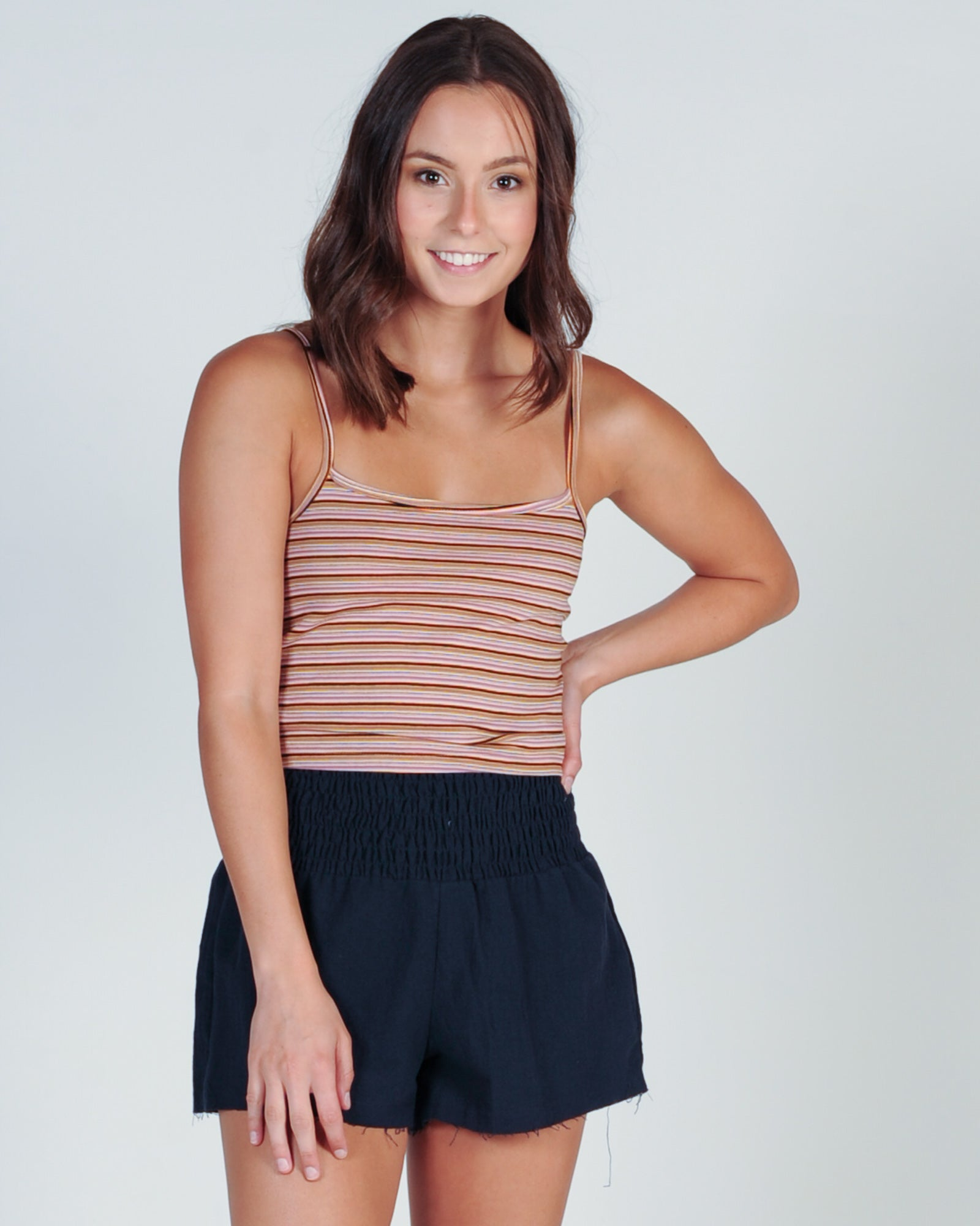 ALL ABOUT EVE LIVIA TANK - MULTI STRIPE
