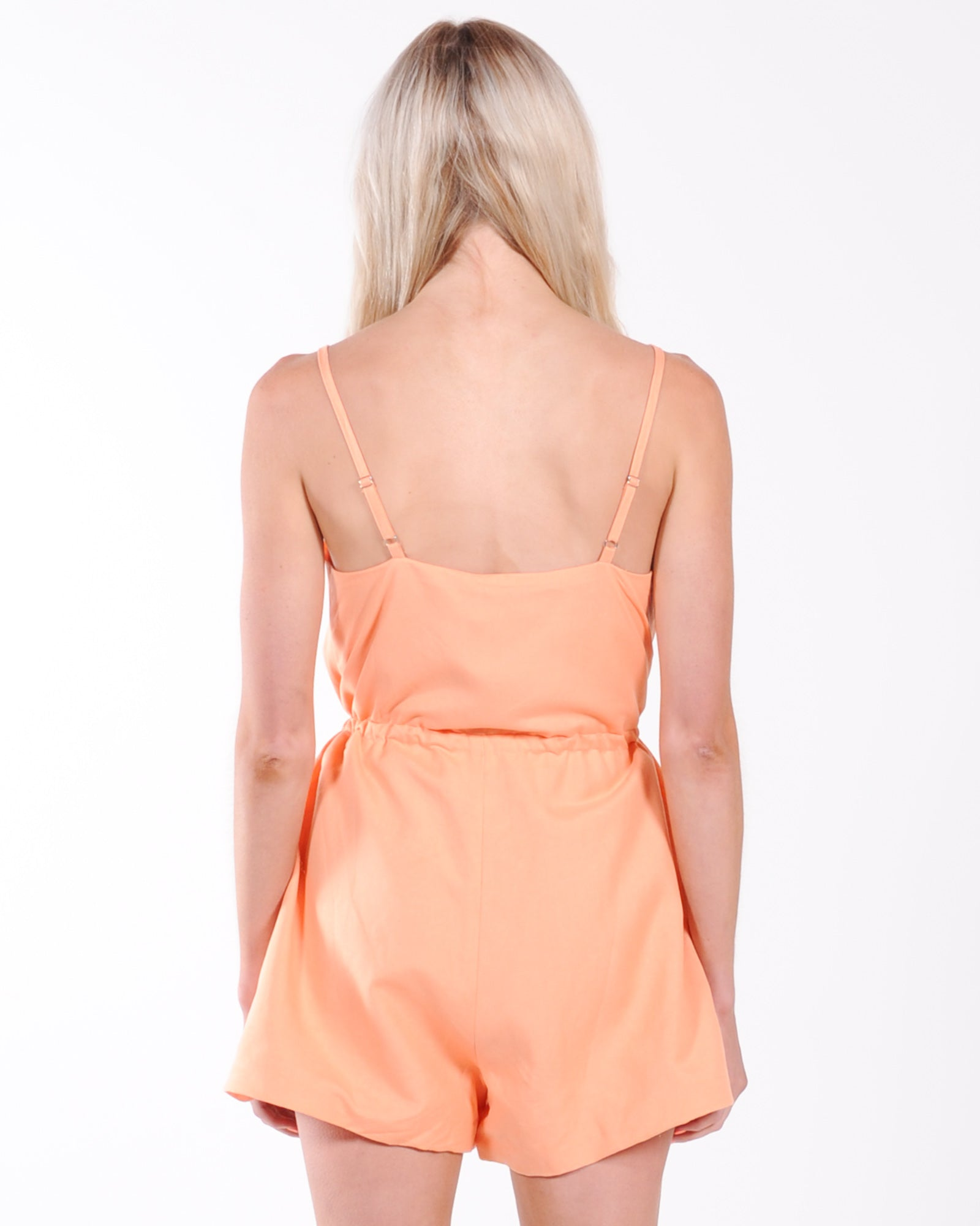 Madison The Label Penny Playsuit - Apricot