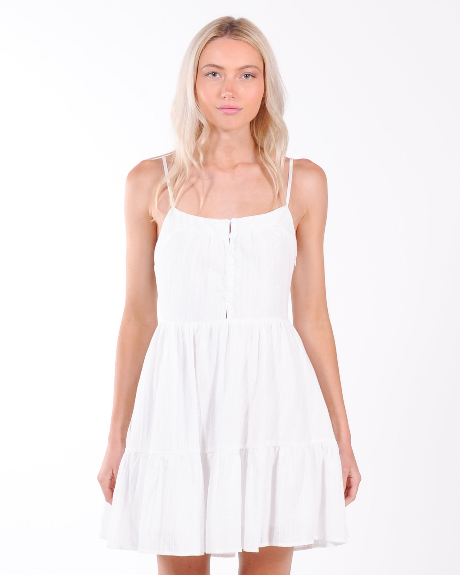 Sweet Talker Mini Dress - White