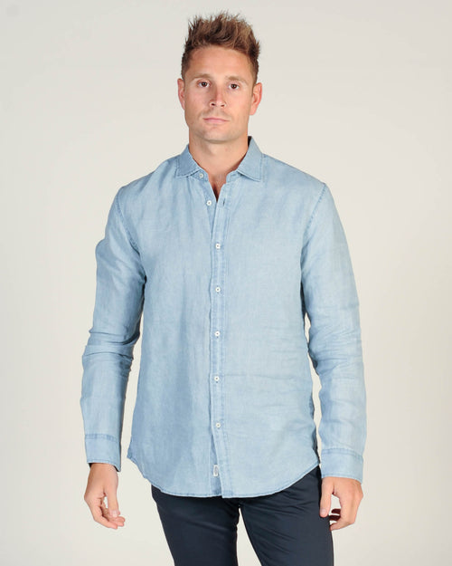 Industrie De Lave L/S Shirt - Chambray