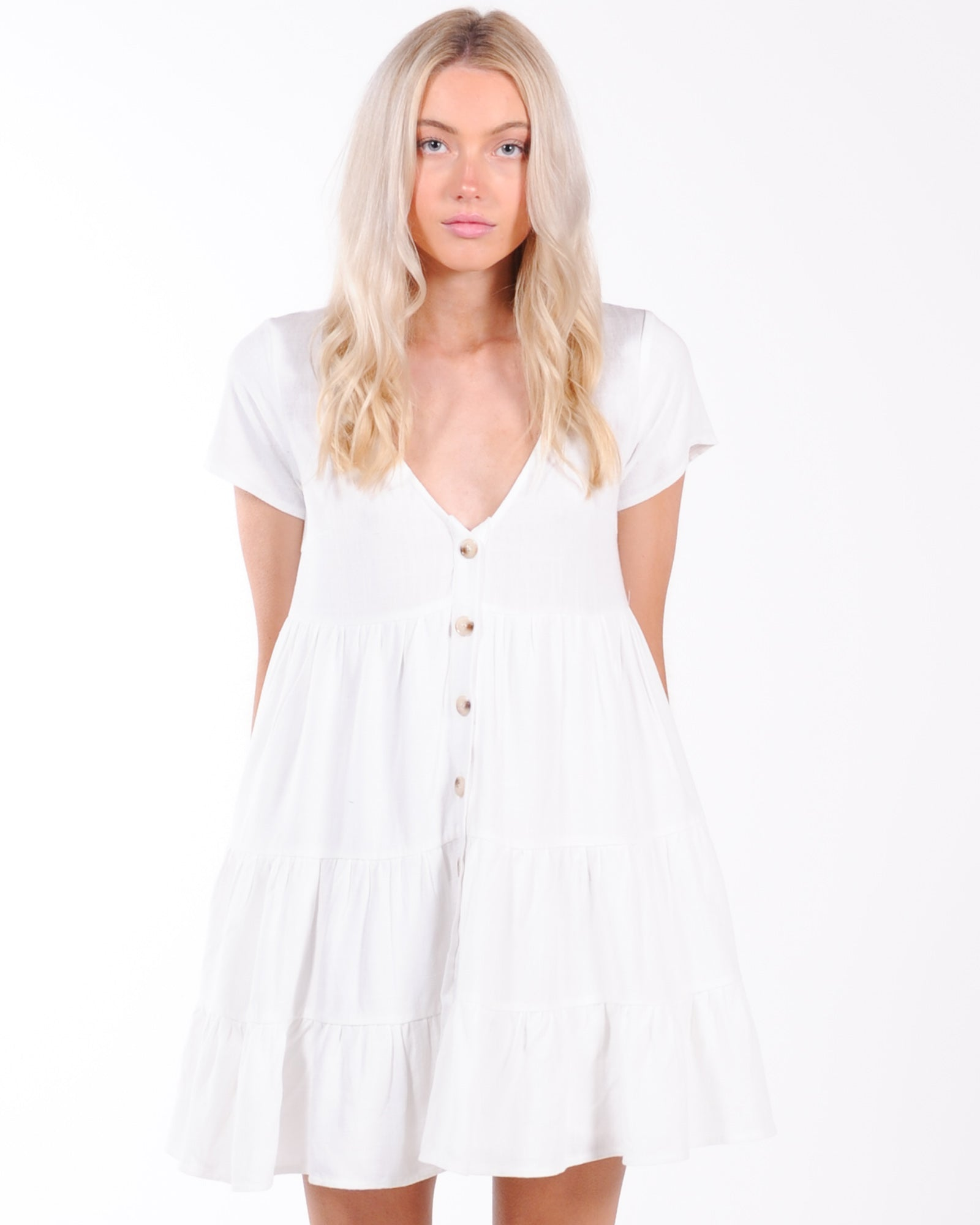 Love Struck Mini Dress - White
