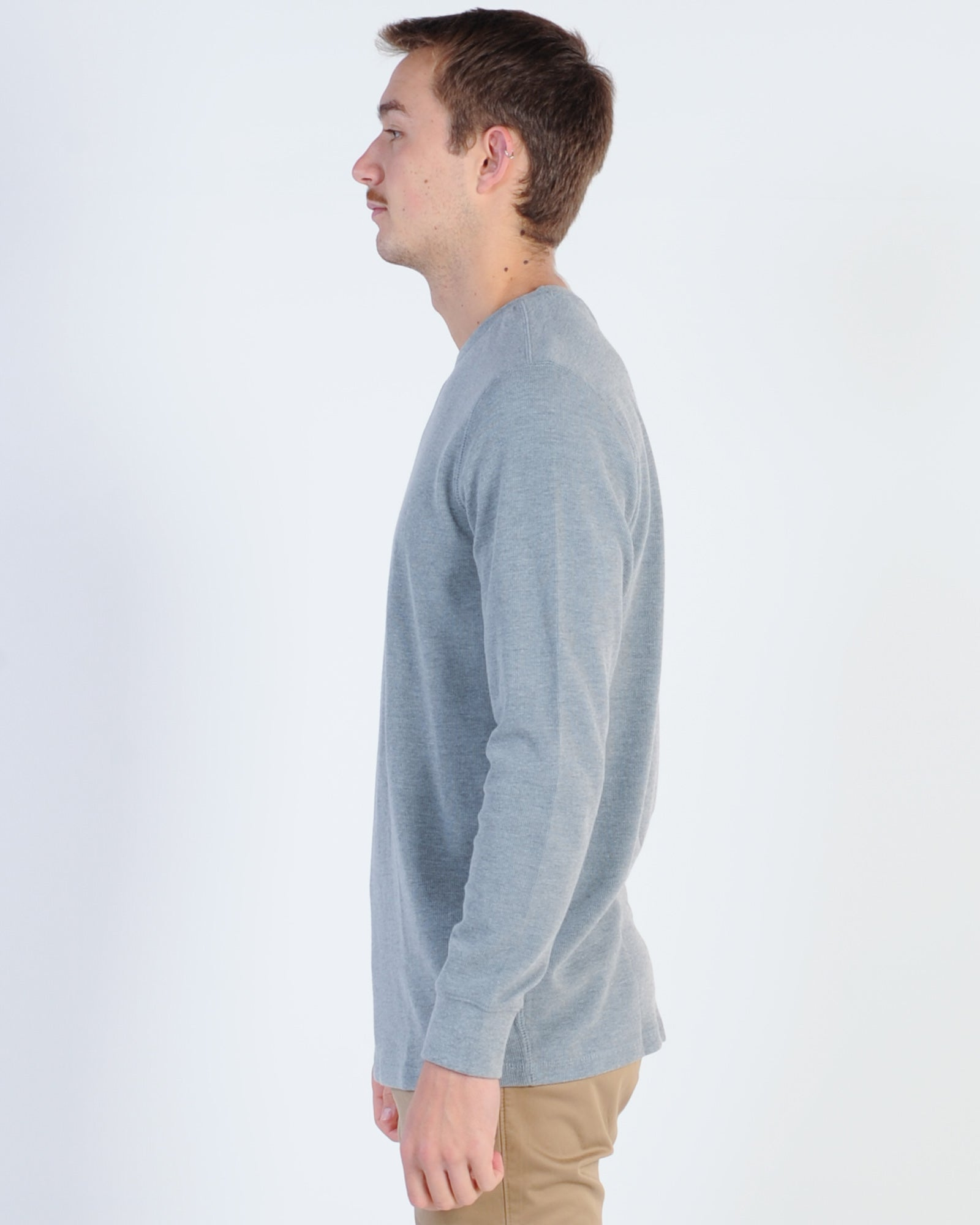 Academy Workers Crew Knit - Grey Marle
