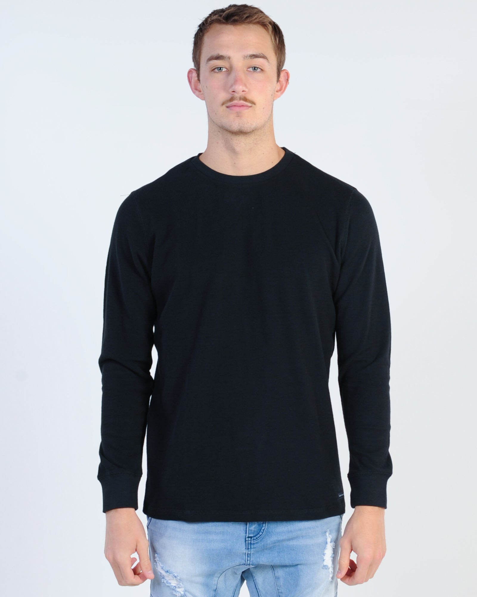 Academy Workers Crew Knit - Black